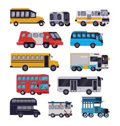 bus public transport tour or city vehicle vector image