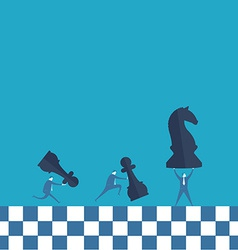 Business man and chess board vector