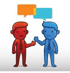 Business Man Talk vector