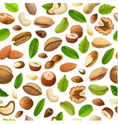 cartoon natural food seamless pattern vector image