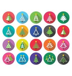 Christmas green tree - flat design icons vector image