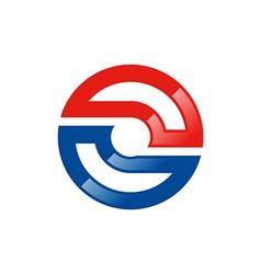 Circle technology balance logo vector
