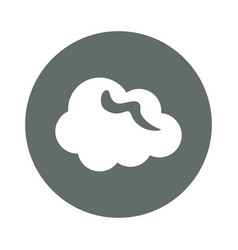 cloud computing round icon vector image