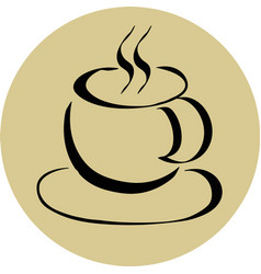 coffee cup emblem vector image