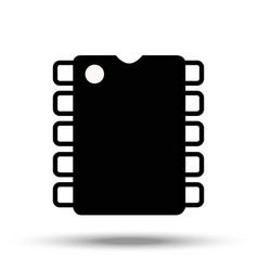 computer chip electronic microprocessor vector image