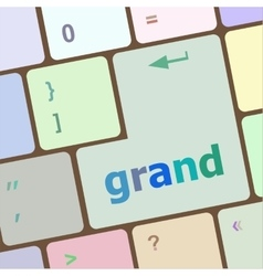 Computer keyboard button with grand button vector image vector image