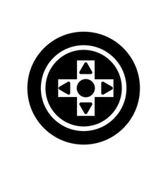 Contour videogame symbol to play and videogame vector