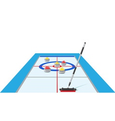 curling 02 vector image