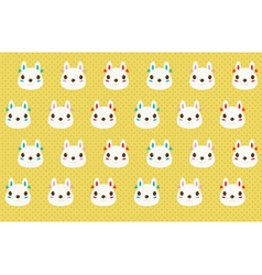 Cute rabbit pattern vector