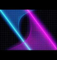 Cyberspace futuristic neon 3d glow lights vector