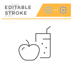 diet line icon vector image