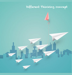 Difference thinking concept vector