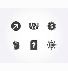 Direction idea and unknown file icons laureate vector