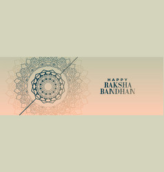 Elegant decorative raksha bandhan festival banner vector