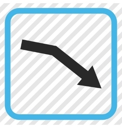 Fail Trend Icon In a Frame vector