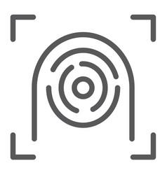Fingerprint scanner line icon security and finger vector