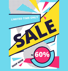 Flat design sale website banner template vector