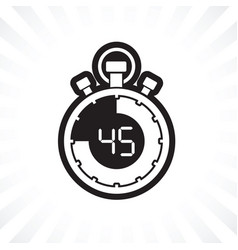 forty five minute stop watch countdown vector image vector image