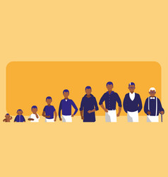 Group of family members avatar character vector