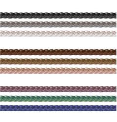 Haberdashery accessories decorative braided eleme vector