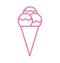 icecream outline icon thin line flat icon ice vector image