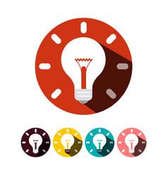 idea symbols bulb icons flat design bulbs set vector image