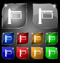 Information Road Sign icon sign Set of ten vector