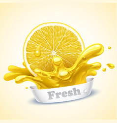 Juicy lemon vector