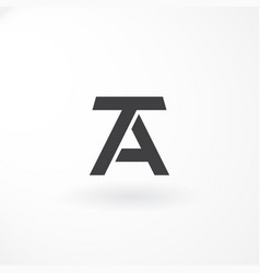 logo design with combination letter t and a black vector image