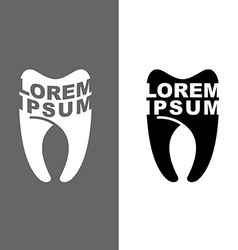 Logo for tooth dental clinic emblem for de vector image