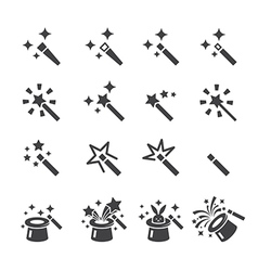 Magic icon set vector