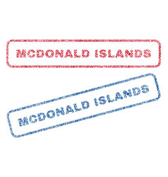 Mcdonald islands textile stamps vector