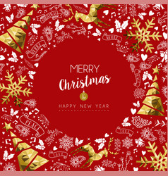 Merry christmas and new year greeting card vector