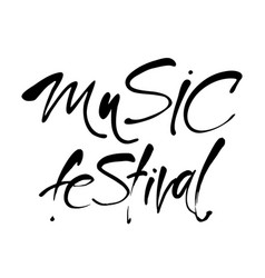 music festival lettering template vector image