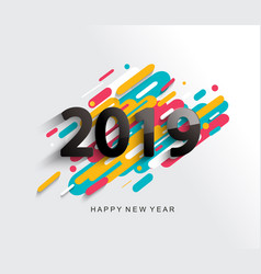 new year 2019 card on modern background vector image