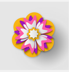 poster decorated bouquet flower origami vector image