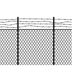 prison fence seamless pattern metal fence wire vector image