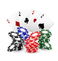 Realistic poker set vector