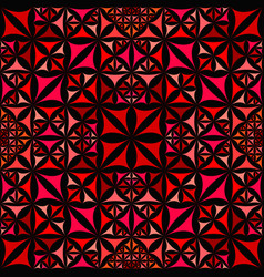 Red abstract repeating curved shape kaleidoscope vector