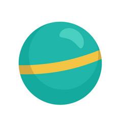 Rhythmic gymnastics ball icon flat style vector