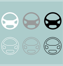 rudder or steering wheel icon rudder or vector image