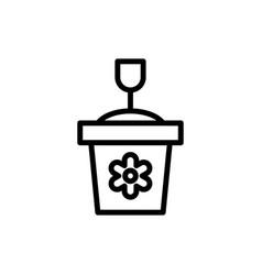 Sand castle outline icon summer season logo vector