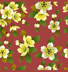 seamless spring background with white and p vector image