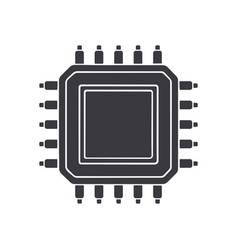 silhouette electronic integrated circuit vector image