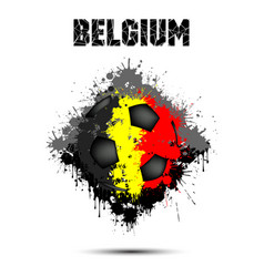 Soccer ball in the color of belgium vector