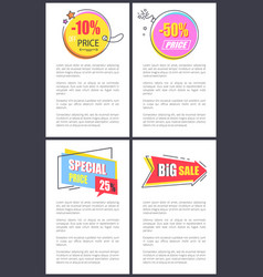 special price -10 off banners vector image