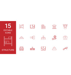 structure icons vector image