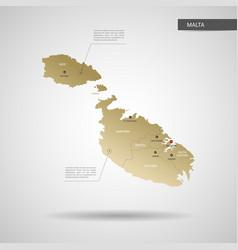 stylized malta map vector image