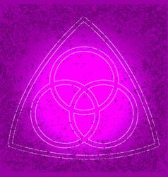 trinity sunday christian holiday three circles vector image