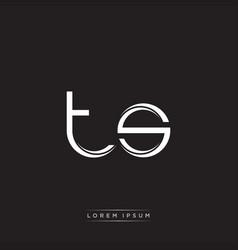 Ts initial letter split lowercase logo modern vector